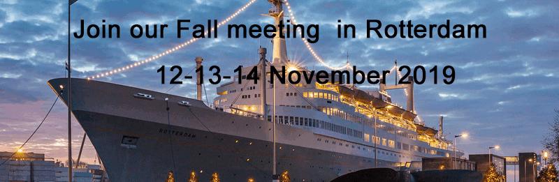 Fall meeting Rotterdam 2019